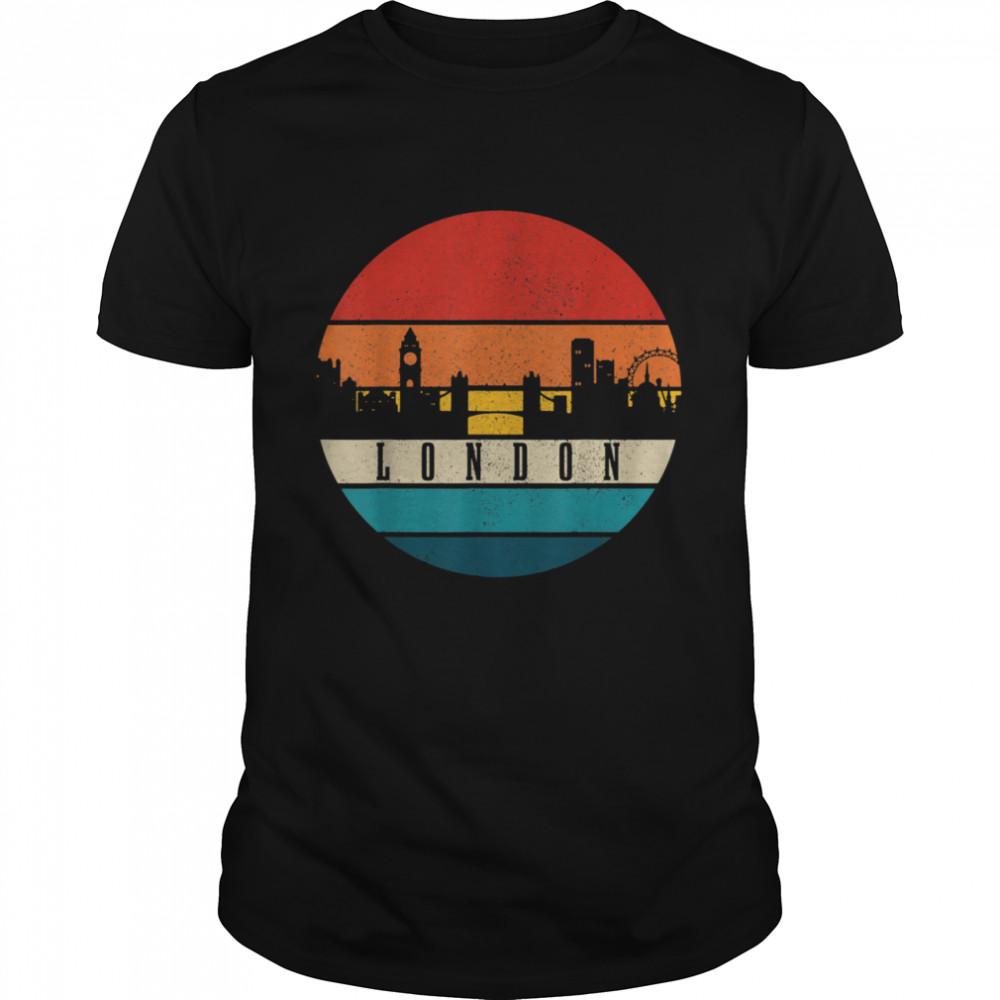 London Skyline UK Vintage United Kingdom England London shirt