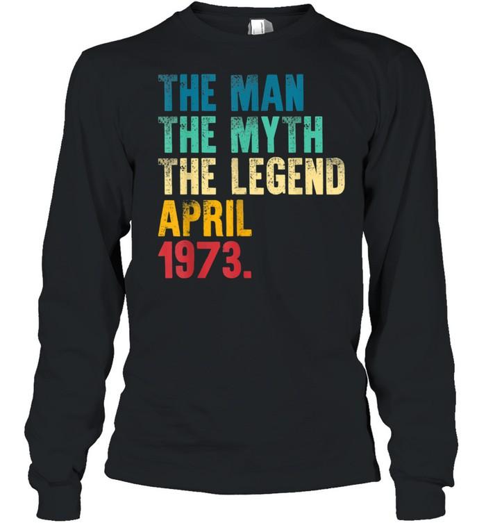 Mens Vintage 1973 Man Myth Legend 48th Bday Retro 48 Yrs Old shirt Long Sleeved T-shirt