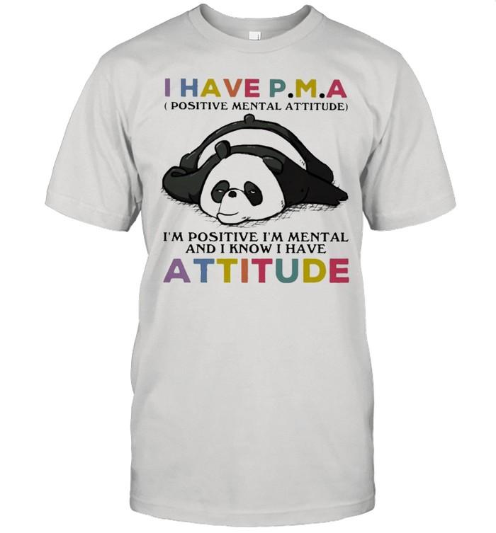 Panda I Have Attitude Panda Lovers  Classic Men's T-shirt