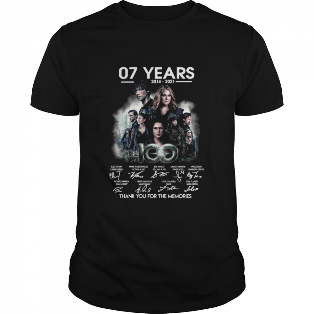 07 Years 2014 2021 The 100 Signatures Thank You For The Memories T-shirt