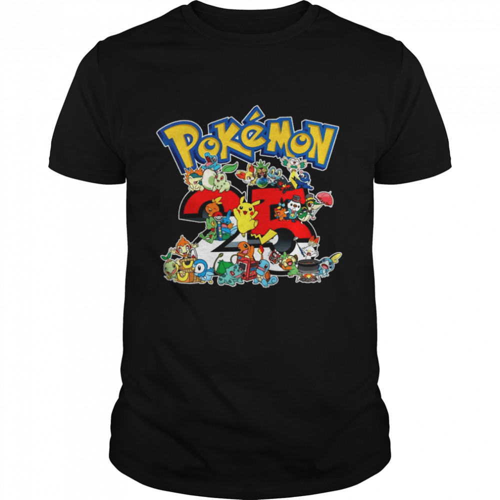 25 years of Pokémon shirt