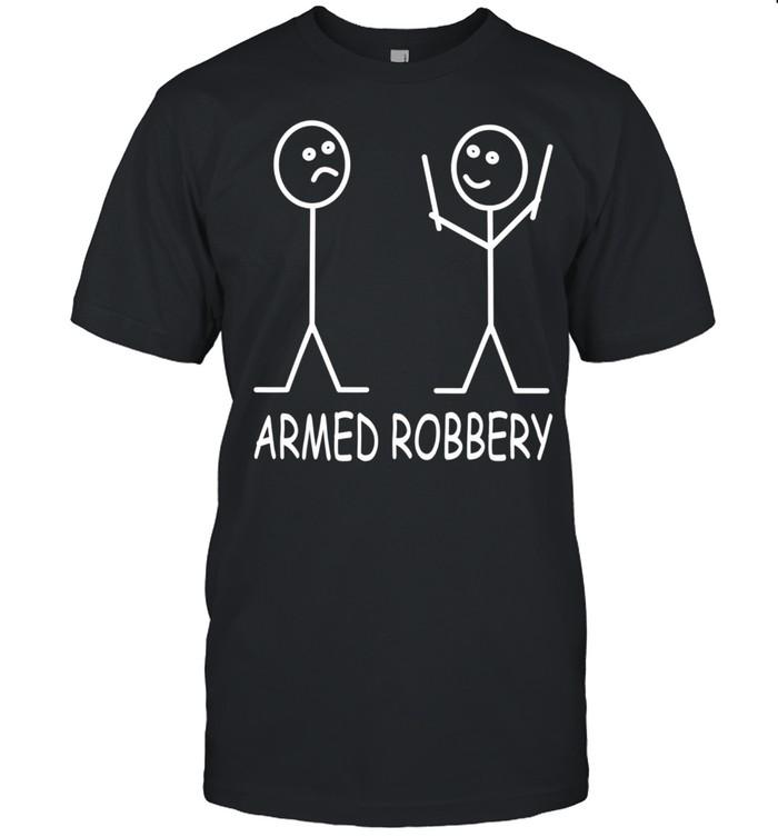 Armed Robbery Stick Figure Robber Sarcastic Stick Man shirt Classic Men's T-shirt