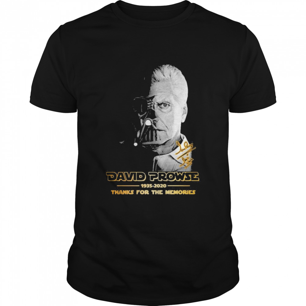 David Prowse 1935-2021 Thanks For The Memories Signature Shirt