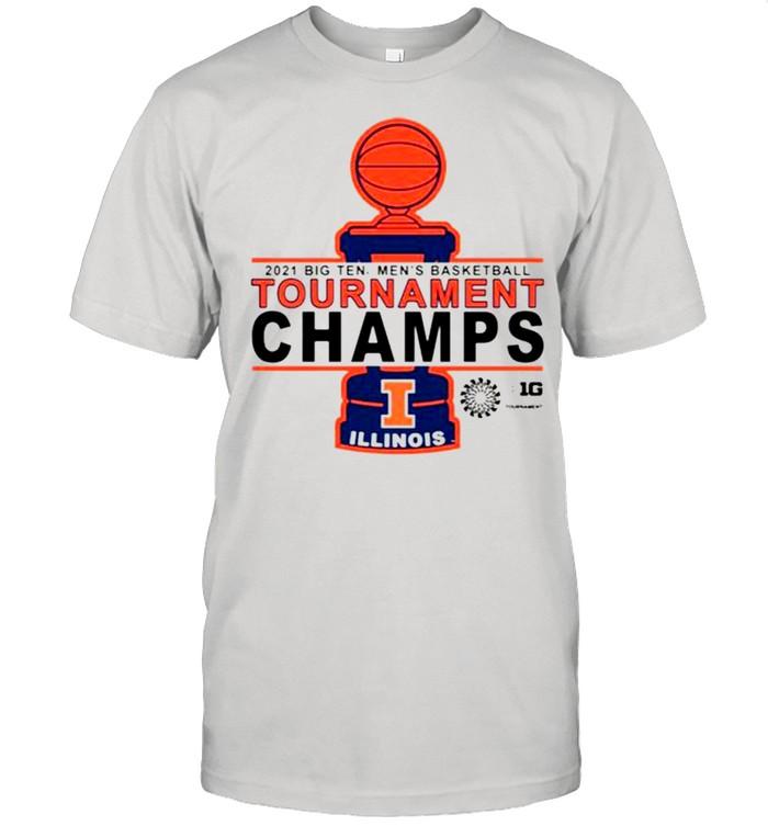 Illinois Basketball 2021 tournament championship shirt