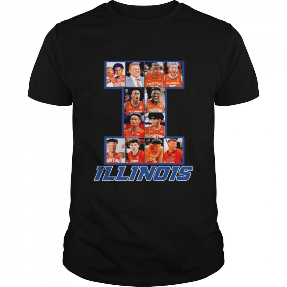 Illinois Basketball Team Player 2021 Shirt