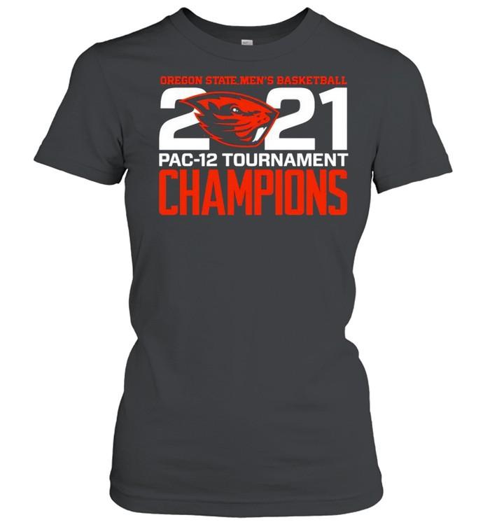 Oregon State Beavers Blue 84 2021 PAC-12 Tournament Champions shirt Classic Women's T-shirt