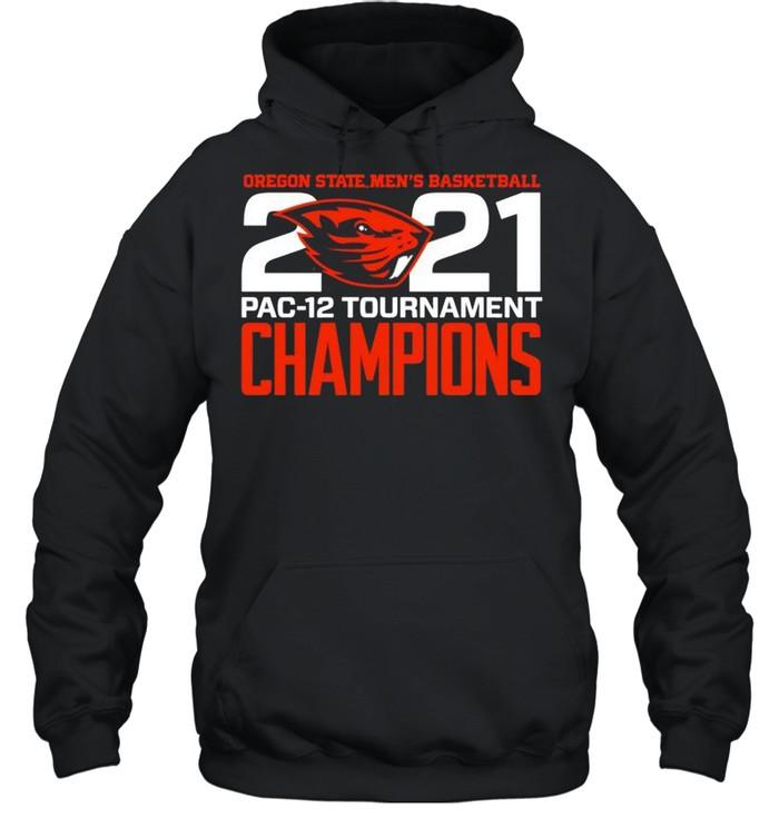 Oregon State Beavers Blue 84 2021 PAC-12 Tournament Champions shirt Unisex Hoodie