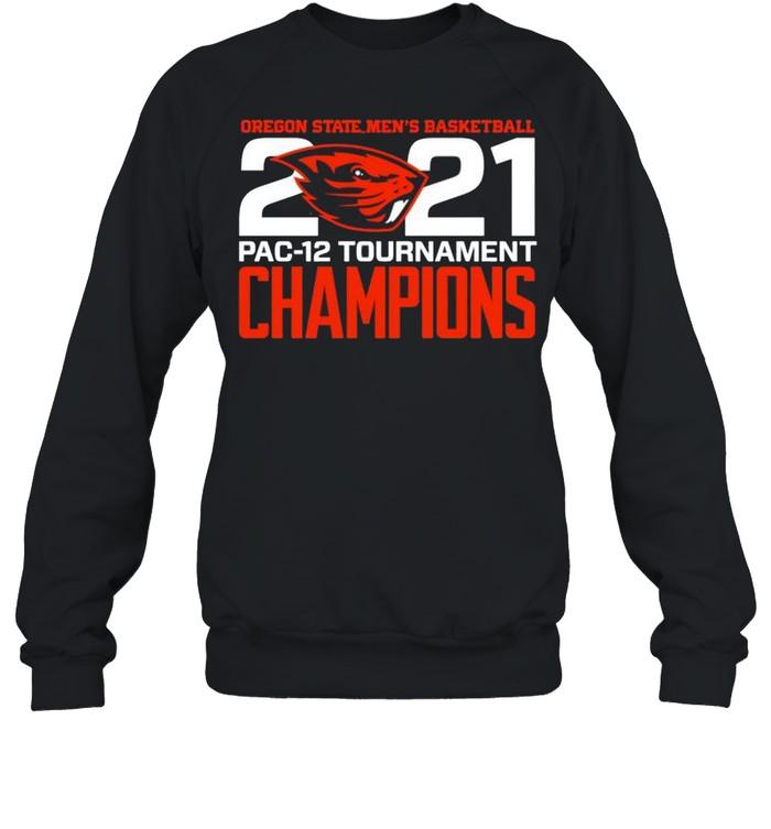 Oregon State Beavers Blue 84 2021 PAC-12 Tournament Champions shirt Unisex Sweatshirt