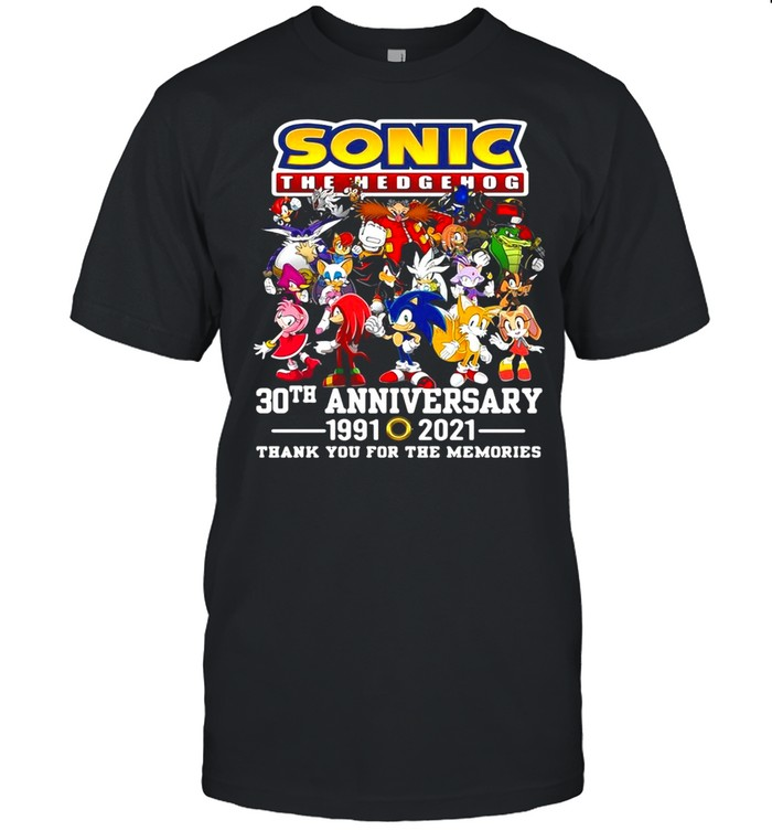 Sonic The Hedgehog 30th Anniversary 1991 2021 Thank You For The Memories T-shirt