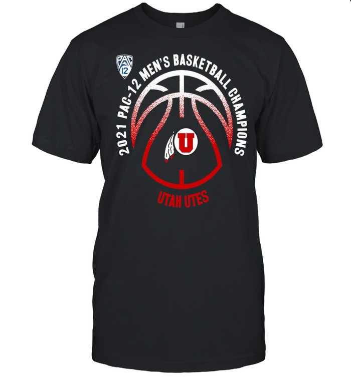 Utah Utes 2021 PAC-12 men's basketball champions shirt