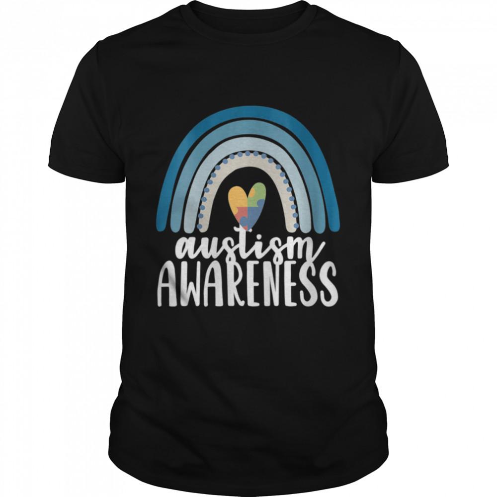 Autism Awareness Rainbow Boho Retro Blue April Month Wear  Classic Men's T-shirt
