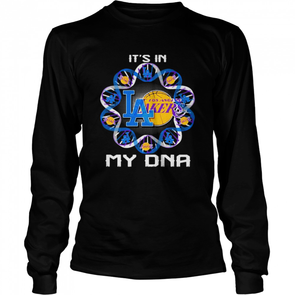 It's In My Dna Los Angeles Lakers Football  Long Sleeved T-shirt