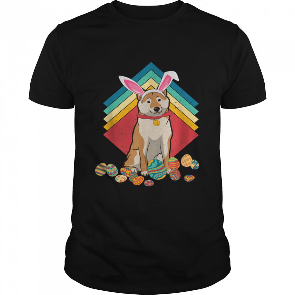 Vintage Shiba Inu Happy Easter Day Dog Shirt