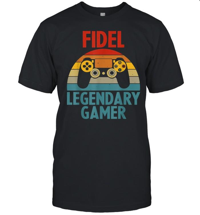 FIDEL Name Personalized Gaming Geek Birthday shirt