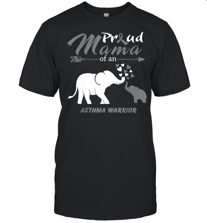 Proud Mama Of An Asthma Warrior  Classic Men's T-shirt