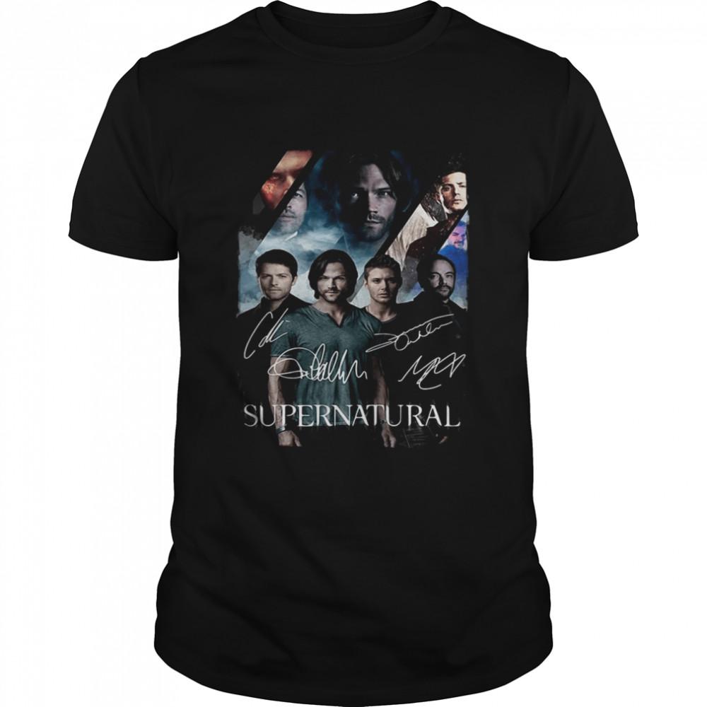 Supernatural characters signatures shirt