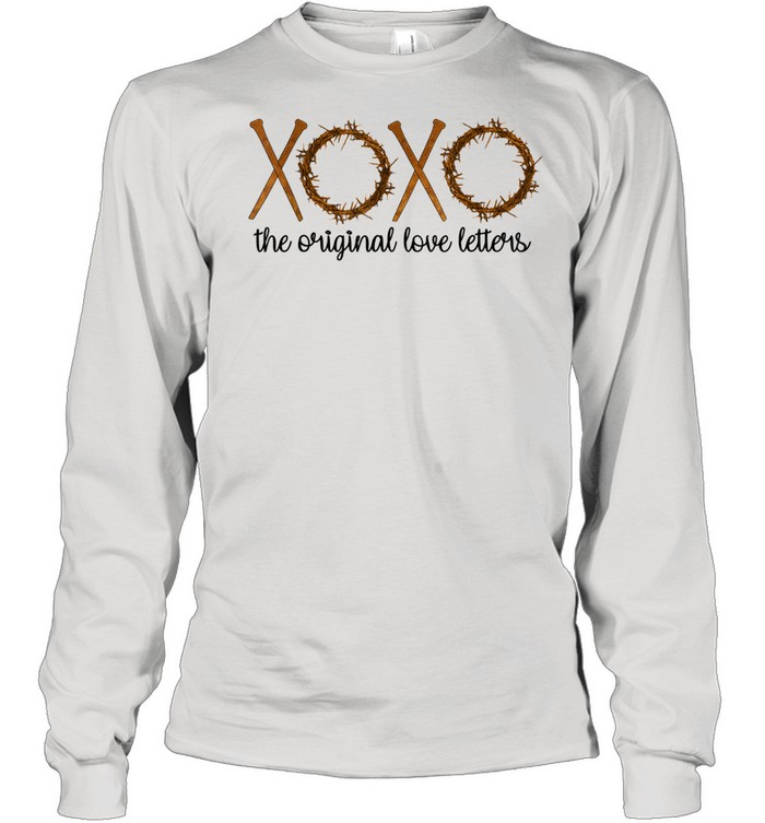 The Original Love Letters Easter Crown Thorns Religious  Long Sleeved T-shirt