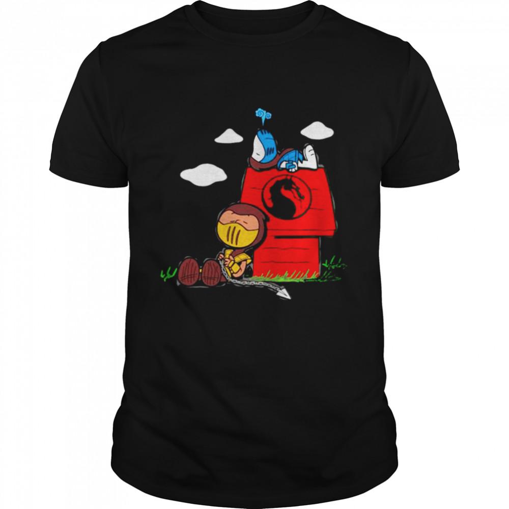 Snoopy and Charlie Brown mashup Mortal Kombat shirt