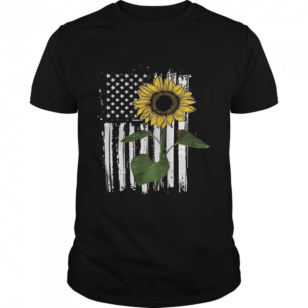 Sunflower American flag shirt Classic Men's T-shirt