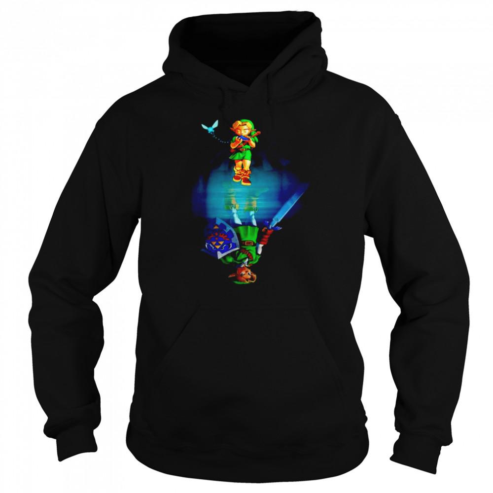 Zelda water mirror shirt Unisex Hoodie