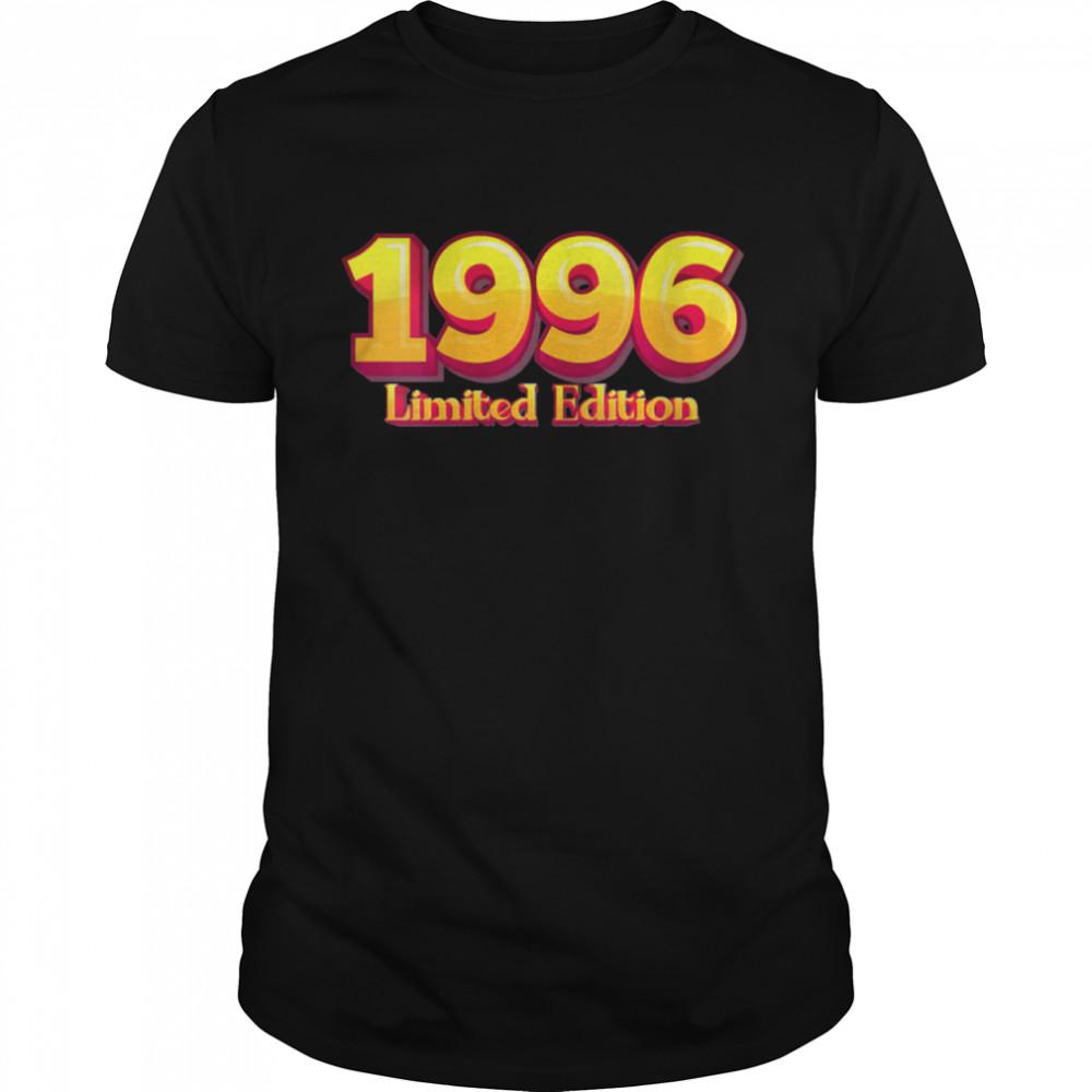 25th Birthday Man 25 Years Bday Year 1996 Shirt