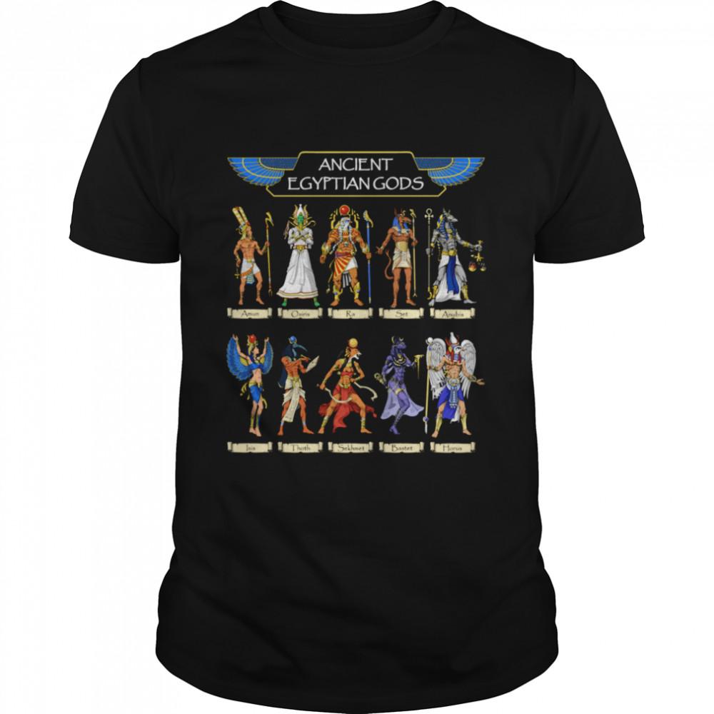 Egyptian Gods Ancient Mythology Pharaoh Anubis Thoth Horus Shirt