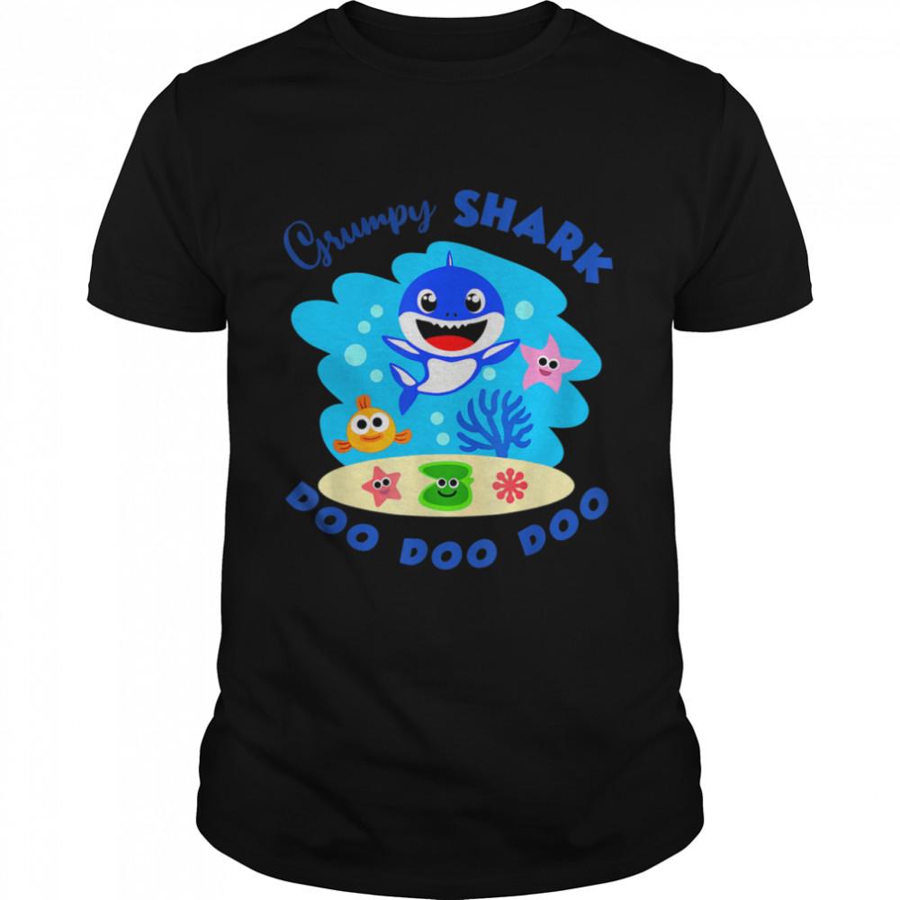 Grumpy Shark Baby Shark Family Set  Classic Men's T-shirt