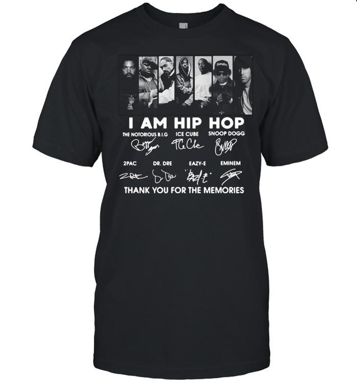 I Am Hip Hop Thank You For The Memories Signatures shirt Classic Men's T-shirt