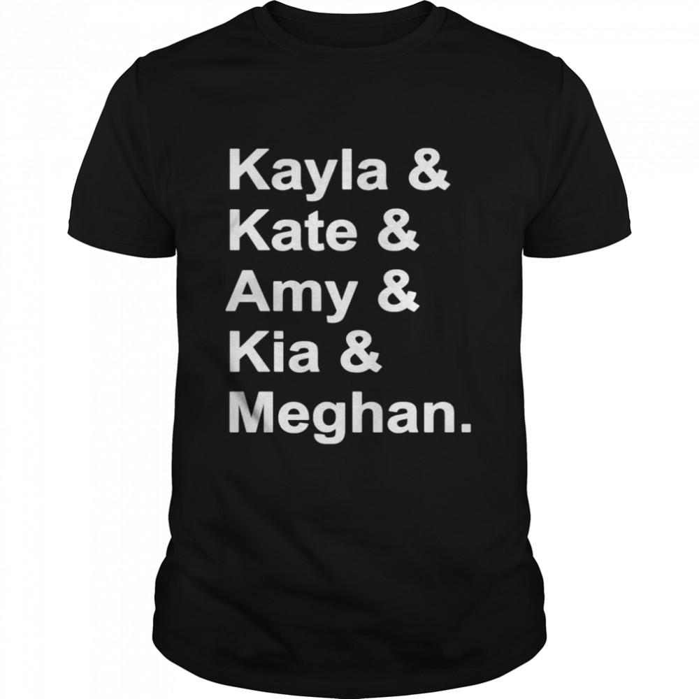 Kayla and Kate and Amy and Kia and Meghan shirt Classic Men's T-shirt