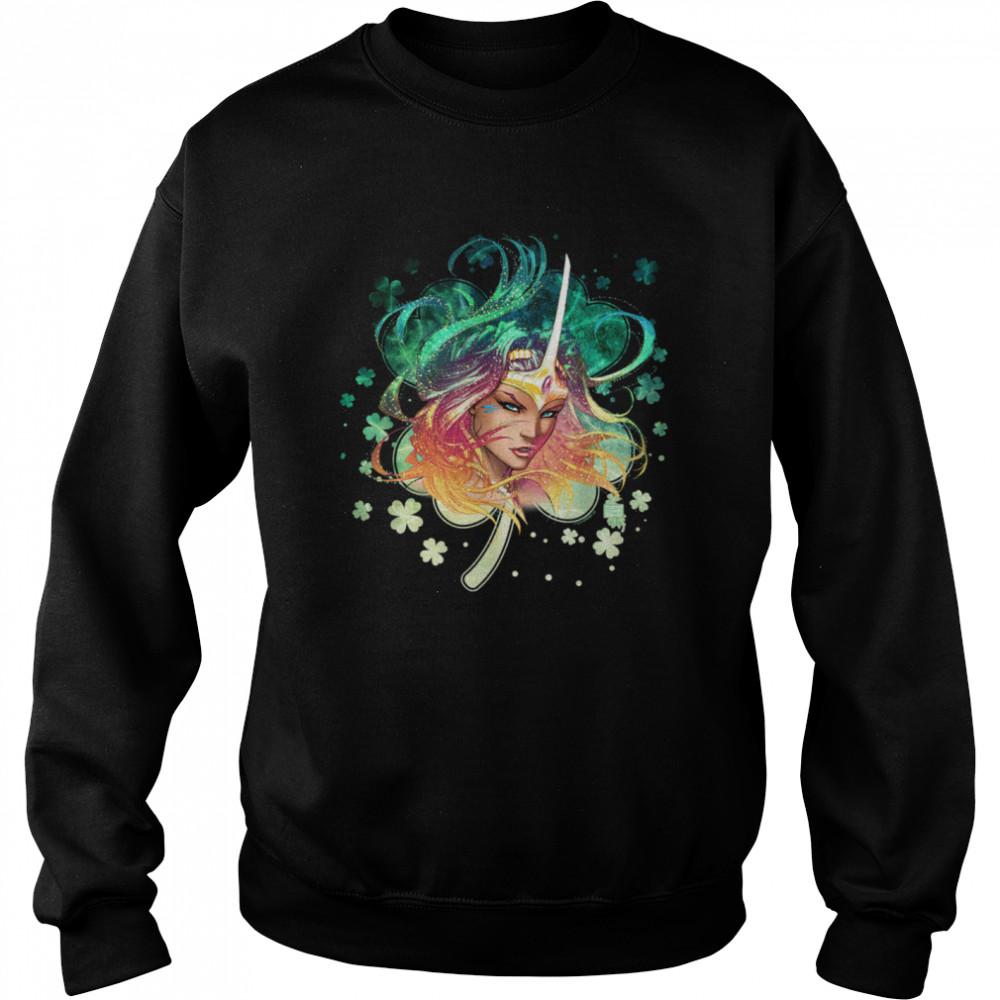 Michael Turner's Soulfire Grace St. Patrick's Day Clover  Unisex Sweatshirt