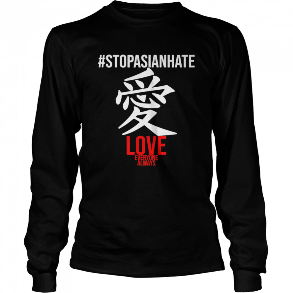 STOPASIANHATE Stop Asian Hate 2021  Long Sleeved T-shirt
