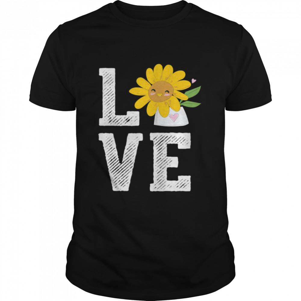 Sunflower Love Florist Flower Keeper Floral Designer Shirt
