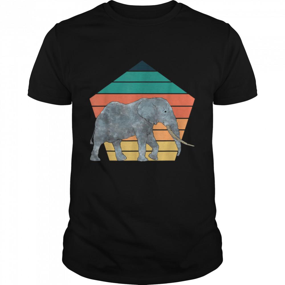 Wildlife Africa Safari Retro Zoo Animal Elephant Shirt