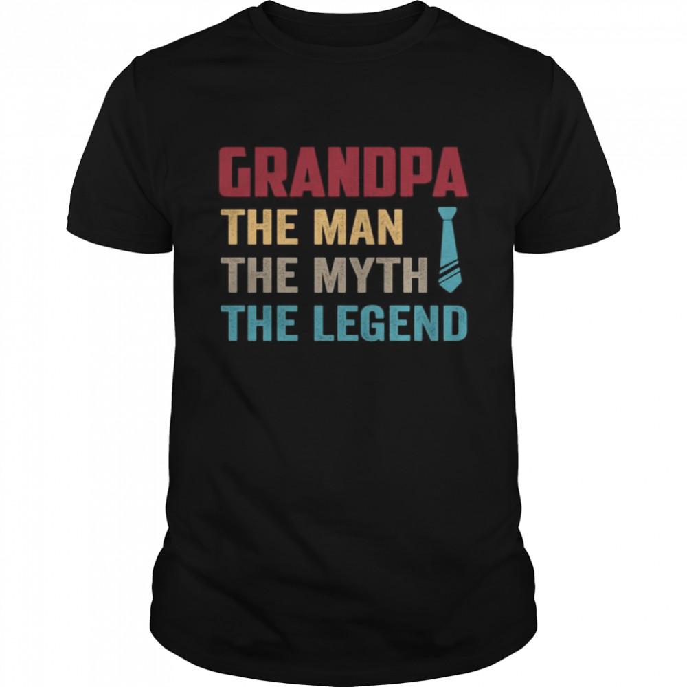 Grandpa the man the myth the legend vintage shirt