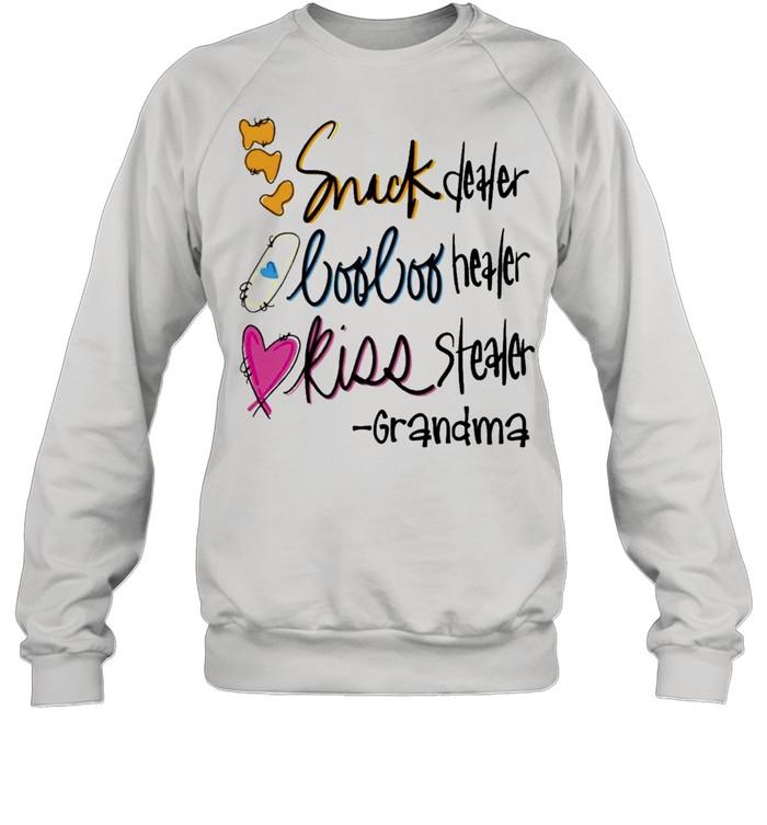 Snack Dealer Boo Boo Healer Kiss Stealer Grandma  Unisex Sweatshirt
