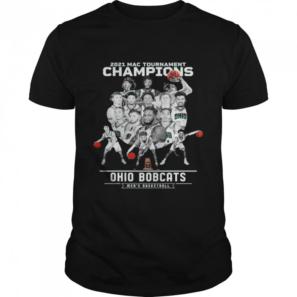 2021 Mac tournament Champions Ohio Bobcats men's Basketball shirt