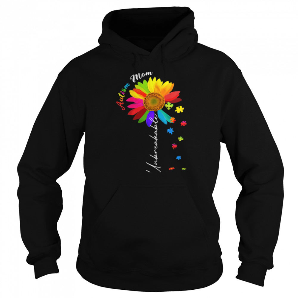 Autism Mom Unbreakable Autism Awareness Daisy Floral  Unisex Hoodie