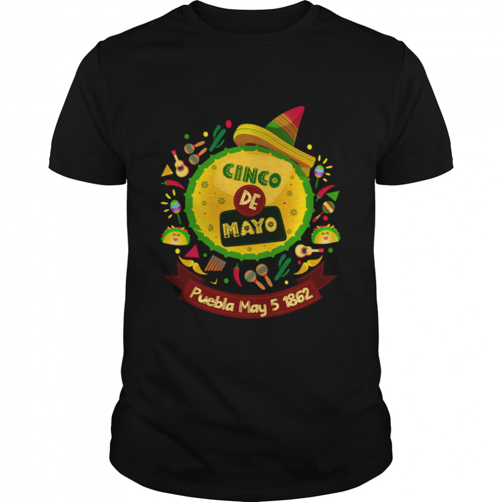 Cinco De Mayo Celebration Meaning of Party Decorations  Classic Men's T-shirt