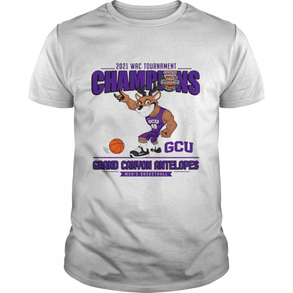 GCU Grand Canyon Antelopes 2021 Wac Tournament Champions Men's Basketball shirt Classic Men's T-shirt