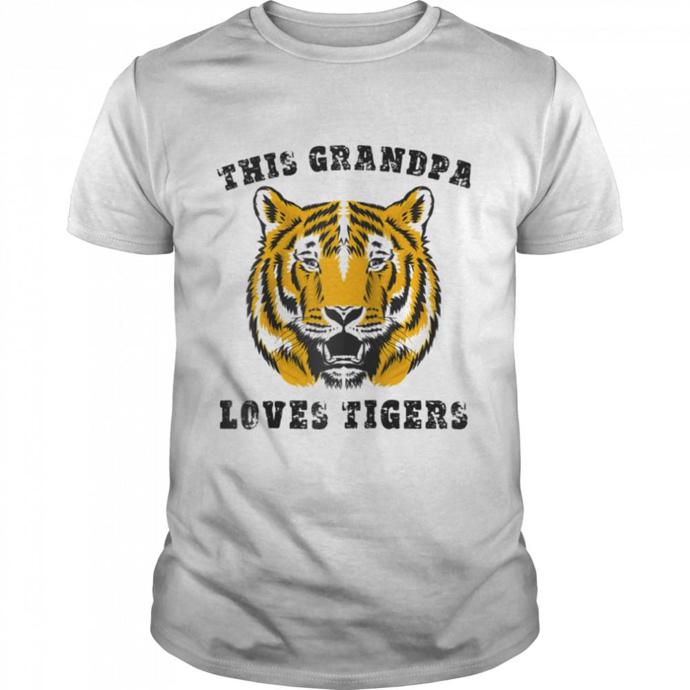 Grandpa Loves Tigers Shirt Grandfather Grandad Grandaddy shirt