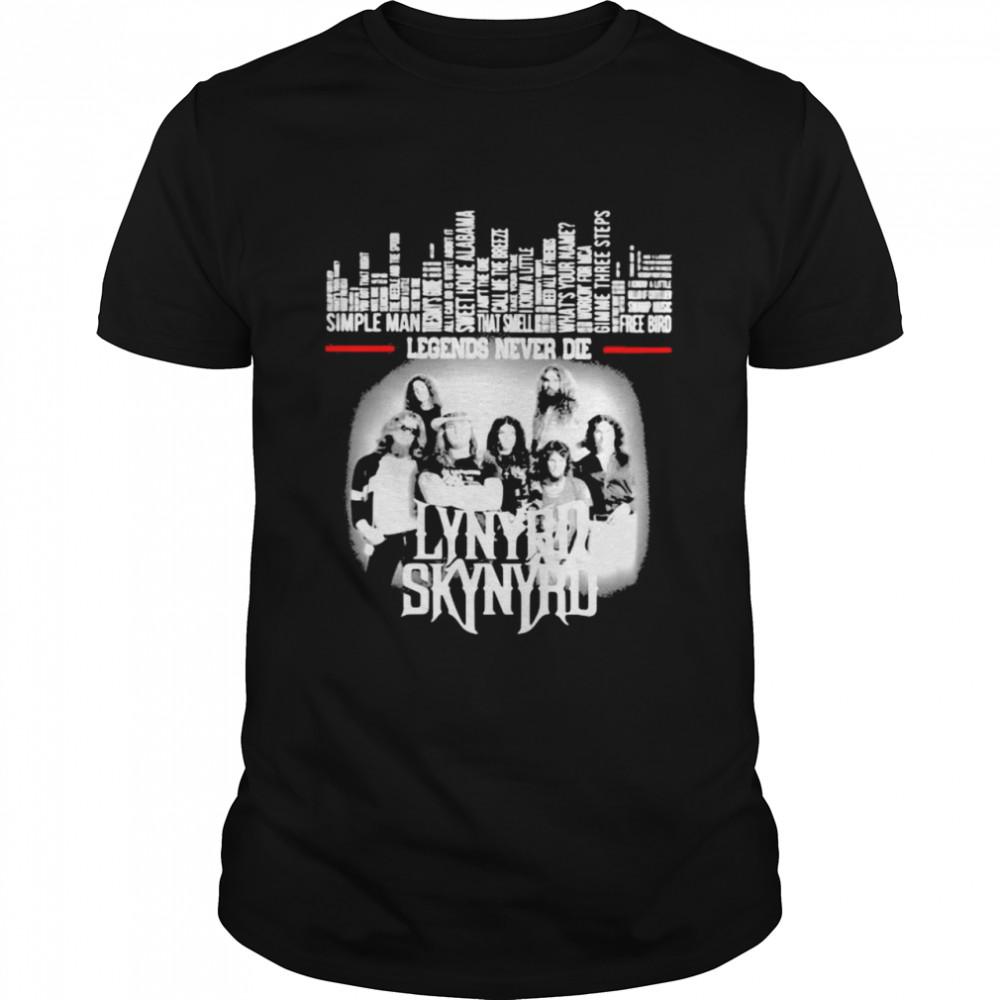 Legends Never Die Lynyrd Skynyrd  Classic Men's T-shirt