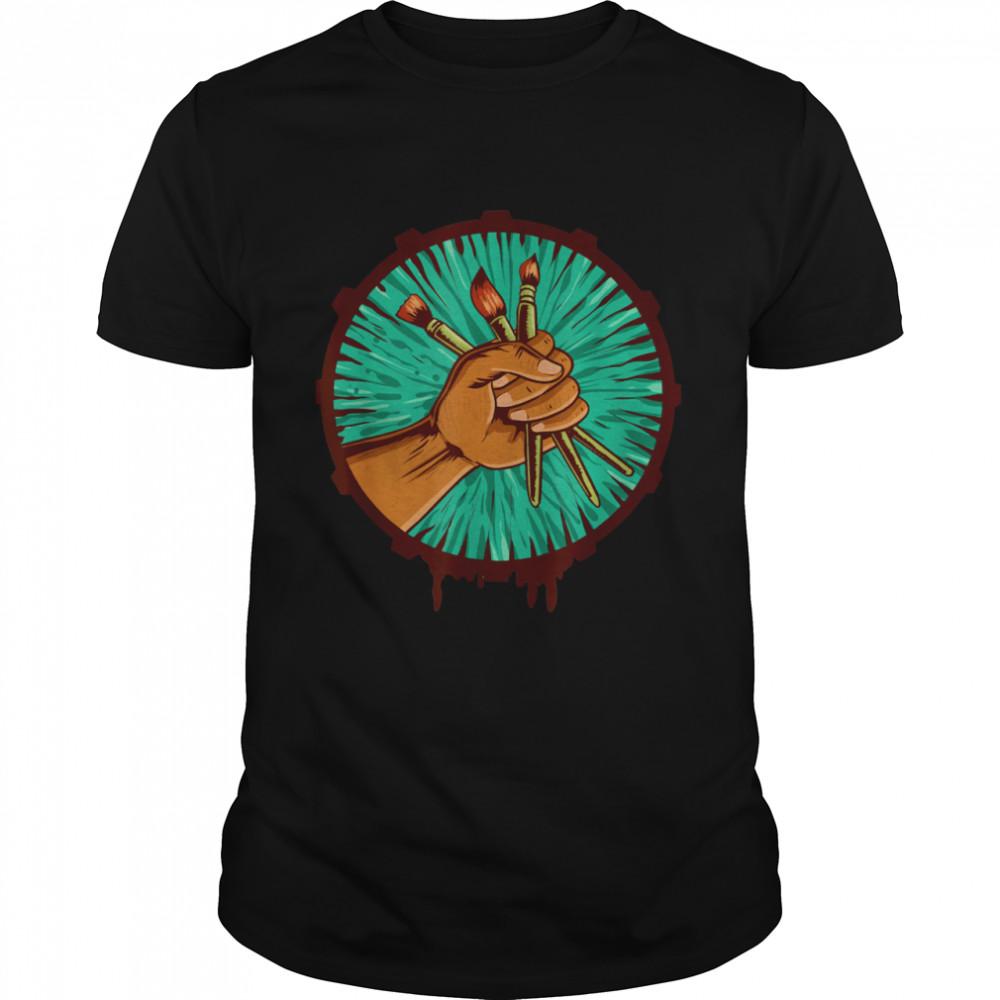 Maler Künstler Pinsel Shirt