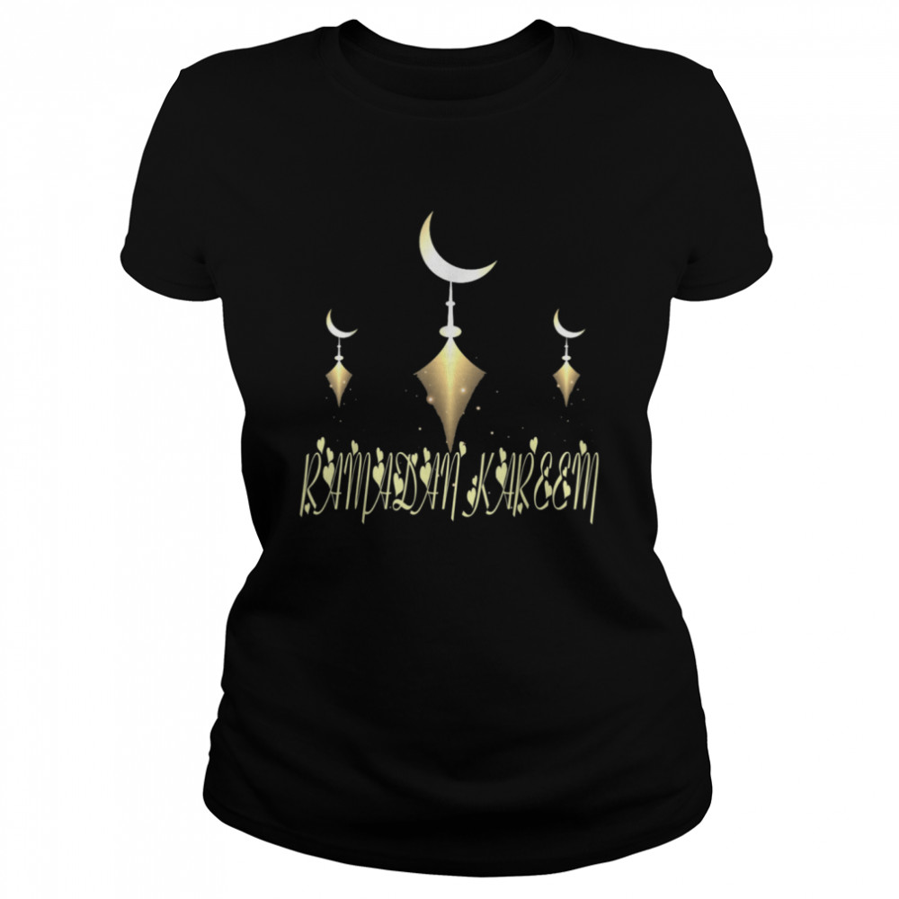 Muslim Fasting Ramadan Mubarak Happy Ramadan Kareem  Classic Women's T-shirt