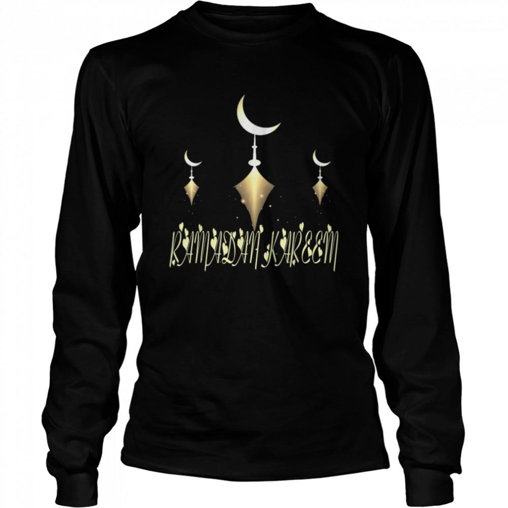 Muslim Fasting Ramadan Mubarak Happy Ramadan Kareem  Long Sleeved T-shirt