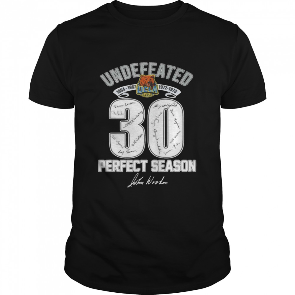 Undefeated UCLA Bruins 30 ferfect season signature shirt