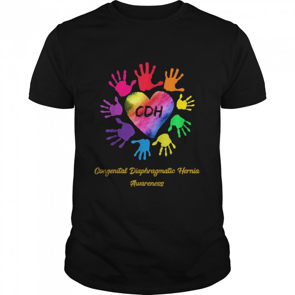 We Wear Rainbow Heart For Congenital Diaphragmatic Hernia shirt