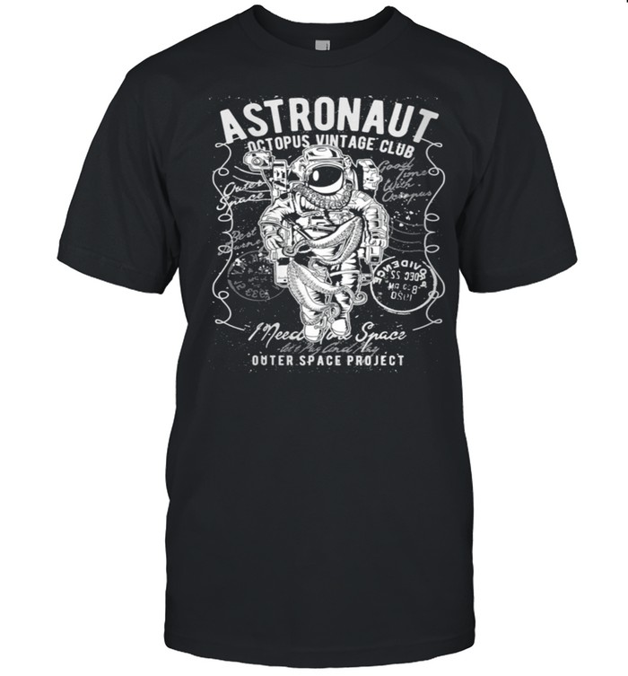 Astronaut Octopus Outer Space Science Fiction Shirt