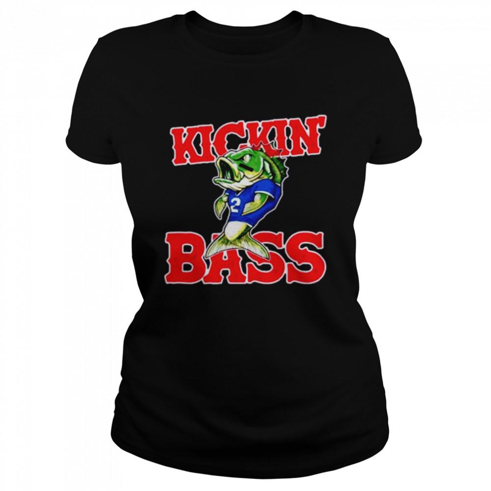 Buffalo Bills kickin' bass fish shirt Classic Women's T-shirt
