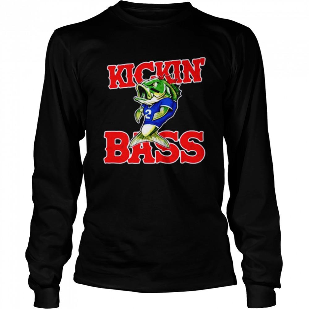 Buffalo Bills kickin' bass fish shirt Long Sleeved T-shirt