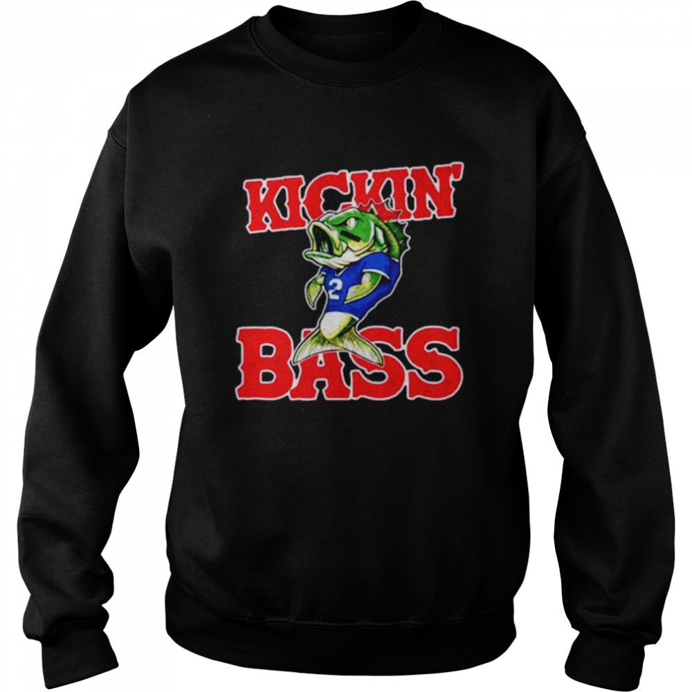 Buffalo Bills kickin' bass fish shirt Unisex Sweatshirt